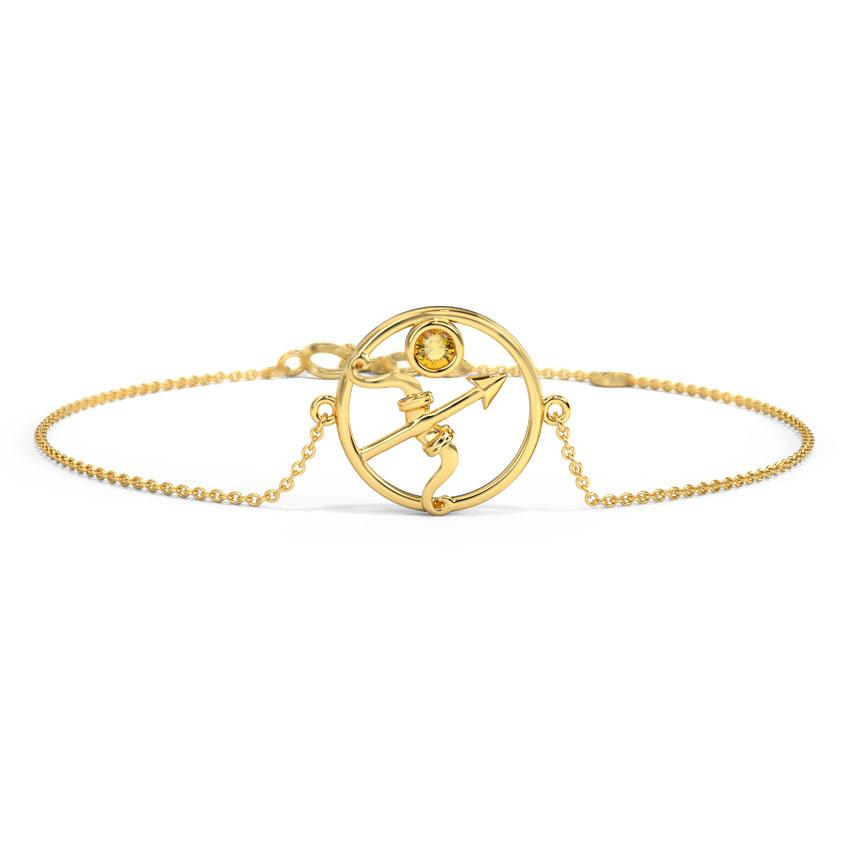Lively Sagittarius Zodiac Bracelet