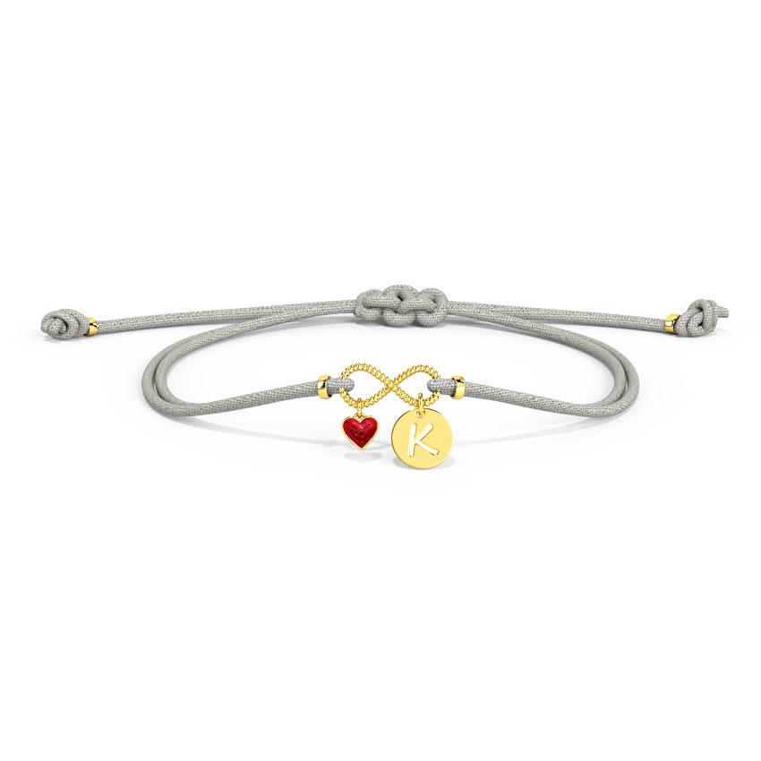 Infinity Initial Bracelet