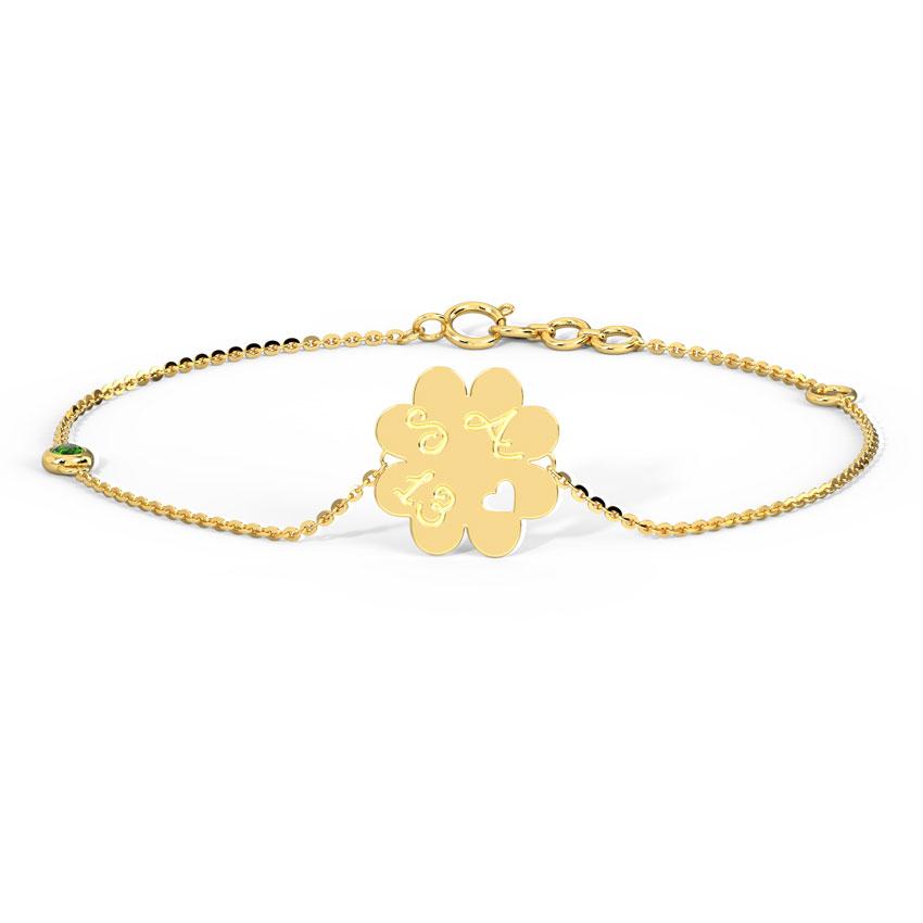Clover Personalised Bracelet