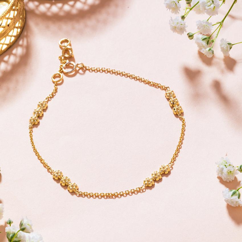 Gold Bracelets 18 Karat Yellow Gold Indrani Gold Bracelet