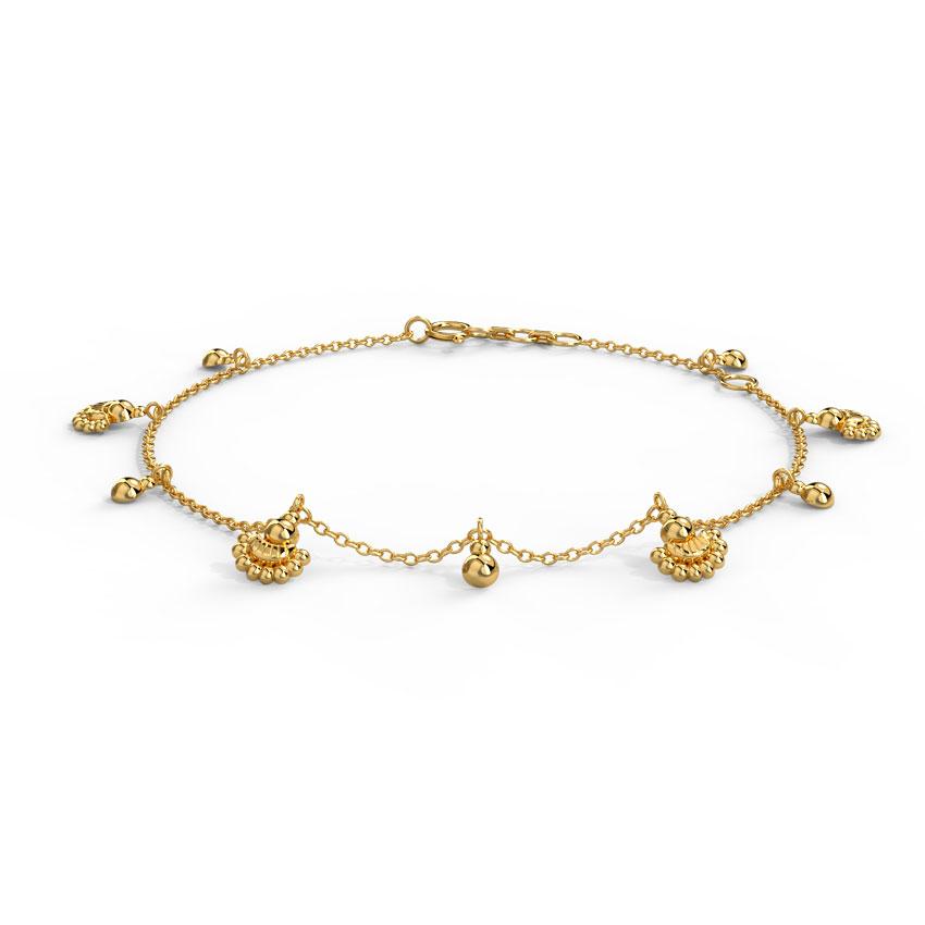 Gold Bracelets 18 Karat Yellow Gold Zivah Gold Bracelet