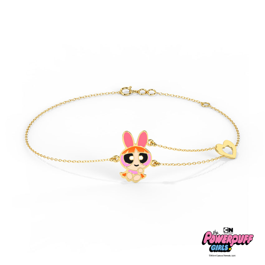 Gold Bracelets 14 Karat Yellow Gold Lovely Blossom Gold Bracelet