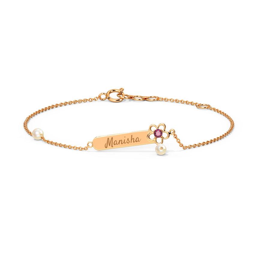 Gold,Gemstone Bracelets 14 Karat Rose Gold Forever Mine Personalised Gemstone Bracelet