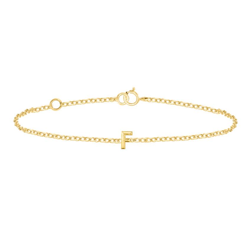 Bold Alphabet F Bracelet