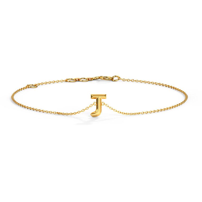 Bold Alphabet J Bracelet