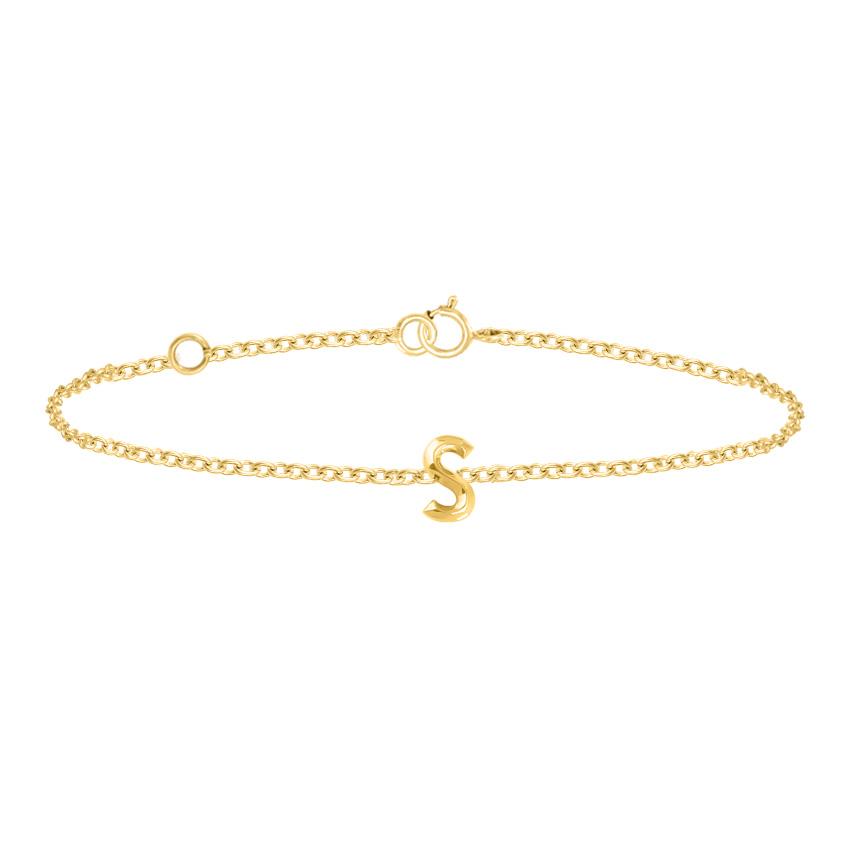 Bold Alphabet S Bracelet