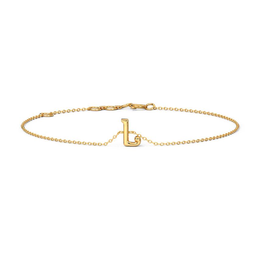 Classic Alphabet L Bracelet