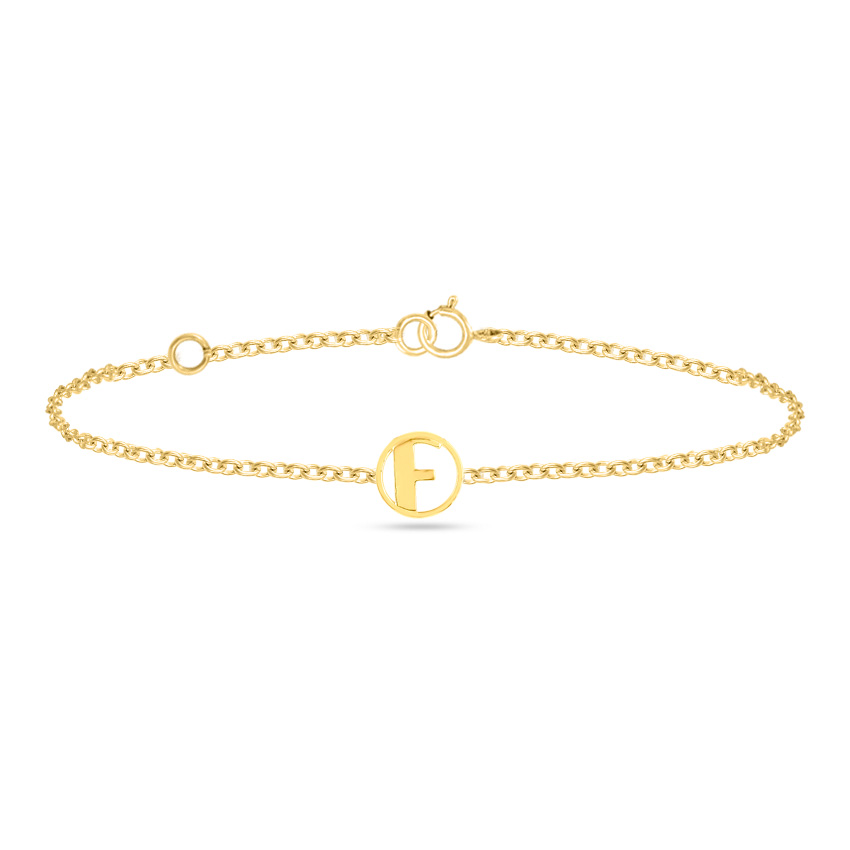 Artsy Alphabet F Bracelet