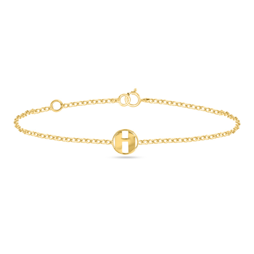Artsy Alphabet H Bracelet