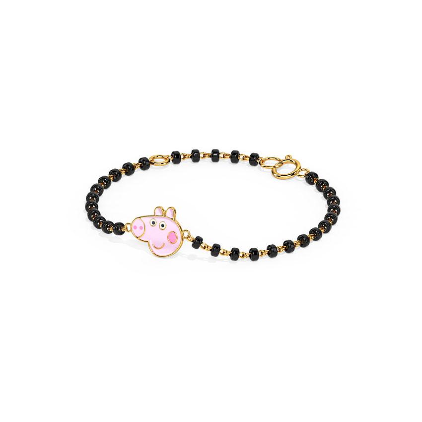 Gold Bracelets 14 Karat Yellow Gold Peppa's Baby Nazaria Gold Bracelet