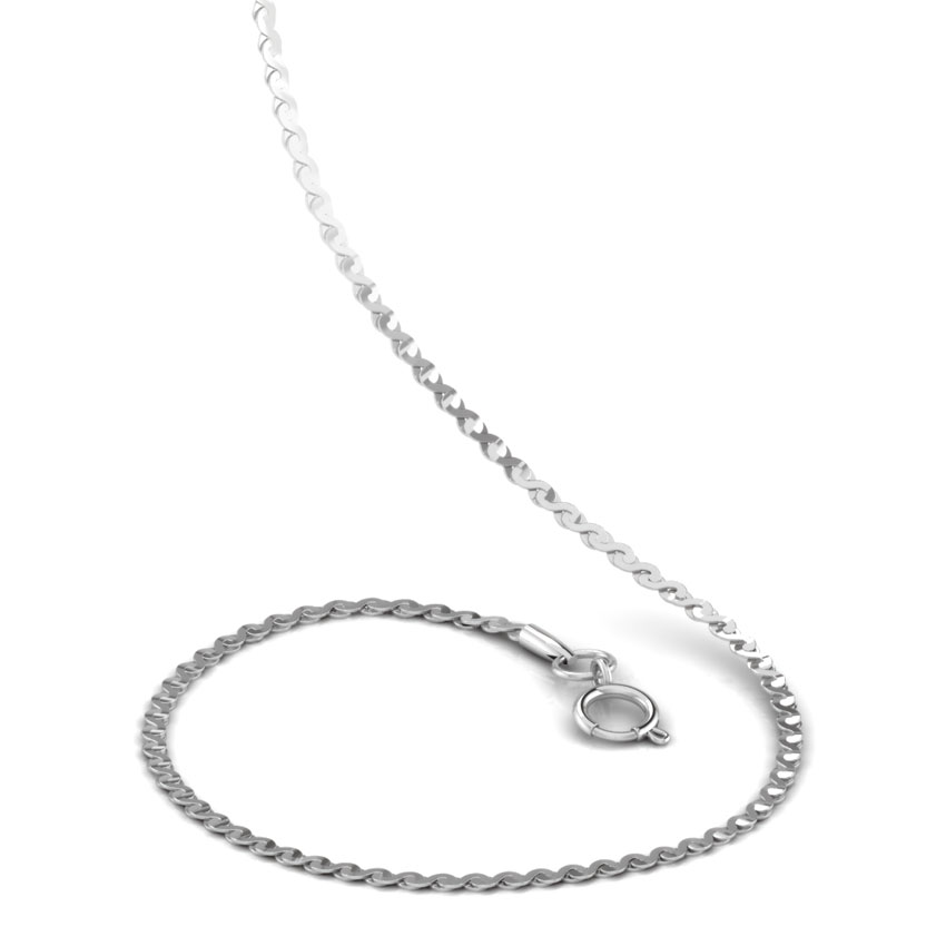 Arched Platinum Link Chain
