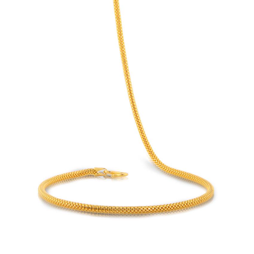 Enrich Round Gold Chain