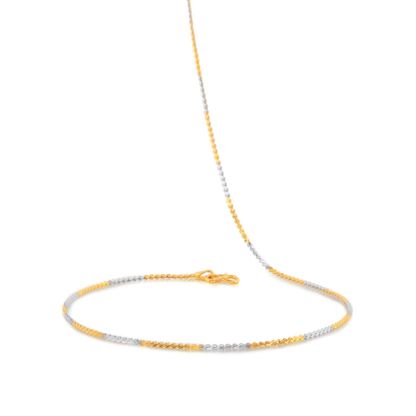 Two Tone Curb Gold Chain