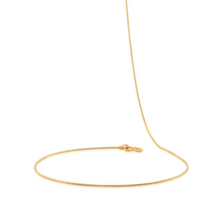 Fine Texture Round Gold Chain