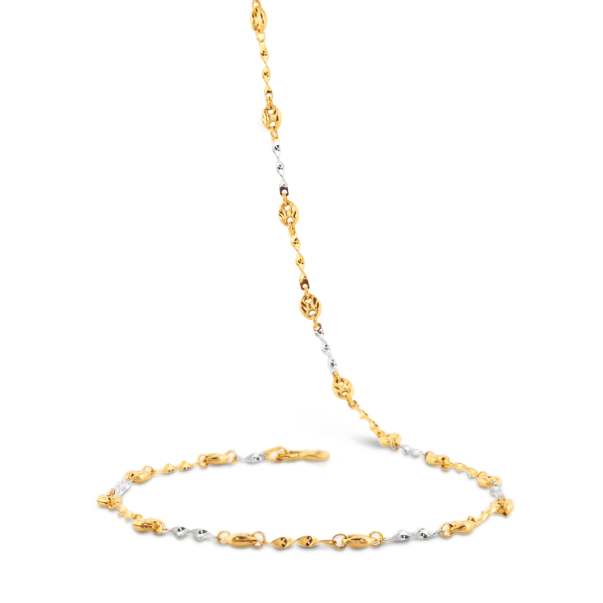 Spiral Twist Link Gold Chain