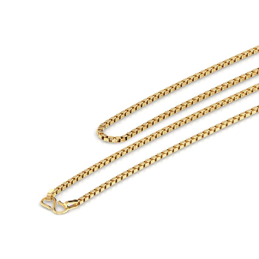 Texture Box Gold Chain