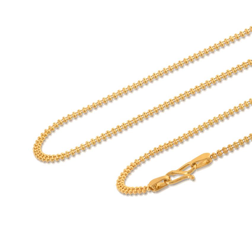 Dual Strand Ball Gold Chain