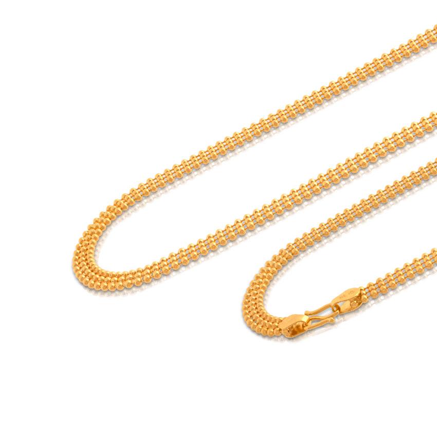 Triple Ball Gold Chain