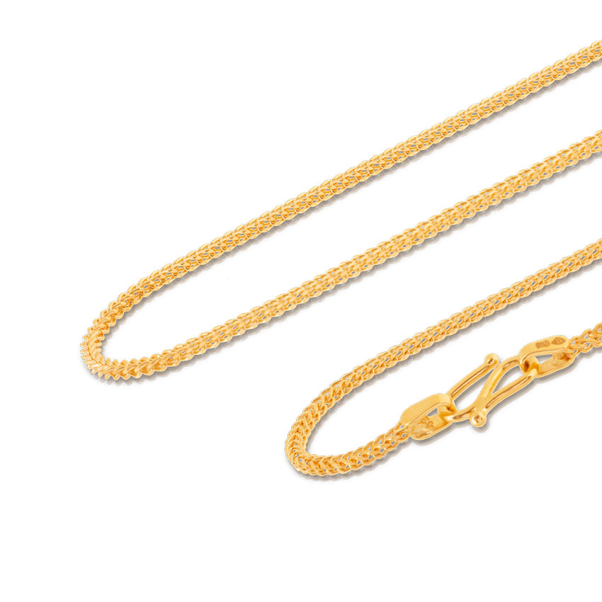 Entwine Foxtail Gold Chain