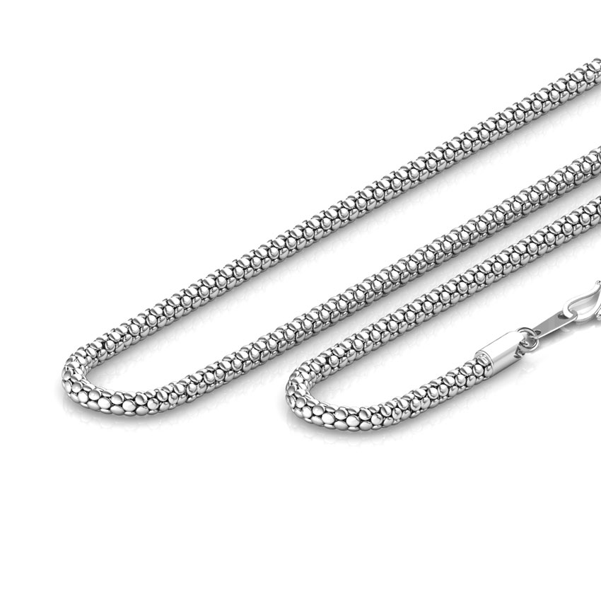 Clump Platinum Fancy Chain