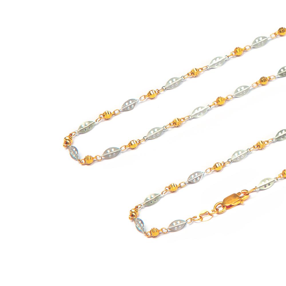 Dual Tone Link Gold Chain
