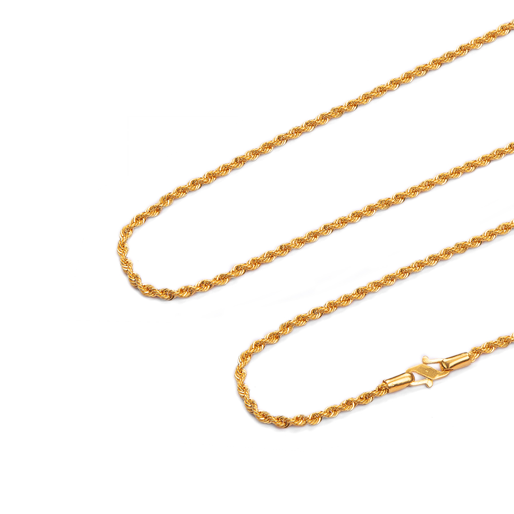 Curly Braid Gold Chain
