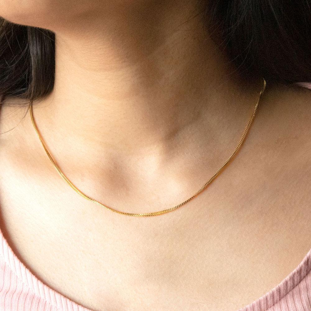 Petite Box Gold Chain