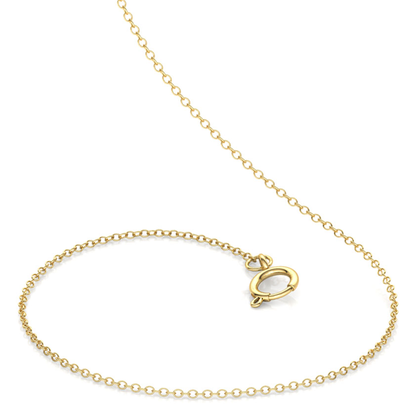 Gold Chains 14 Karat Yellow Gold Lucent Kids' Cable Gold Chain
