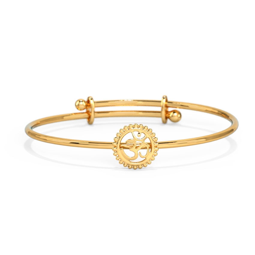 Ornate Om Infant Bangle