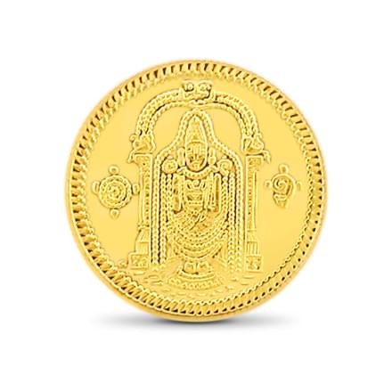 1gm, 22Kt Lord Balaji Gold Coin