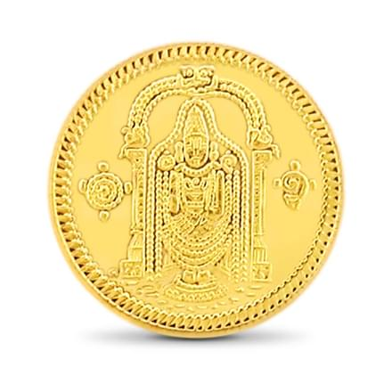10gm, 22Kt Lord Balaji Gold Coin