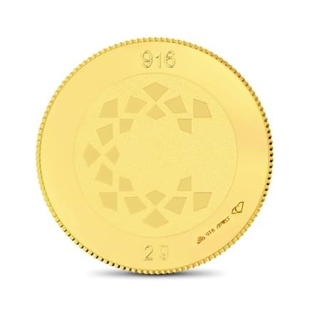 2gm, 22Kt Plain Gold Coin