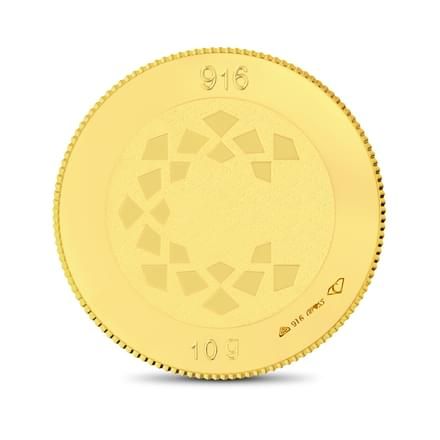 10gm, 22Kt Plain Gold Coin