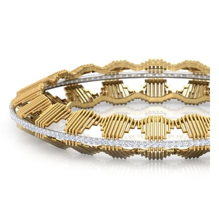 Eros Multi Stepped Bangle