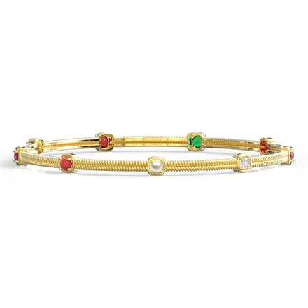Twirl Navratna Bangle