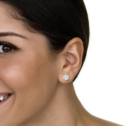 Sparkling Petal Earrings