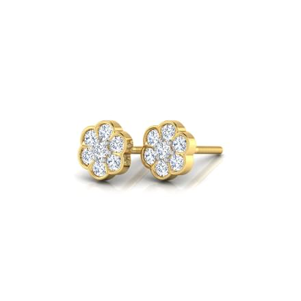 Floral Sparkle Diamond Earrings