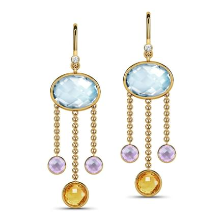 Gemstone chandelier earrings jewellery india online caratlane gemstone chandelier earrings mozeypictures Image collections