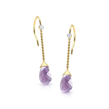 Poire Amethyst Earrings