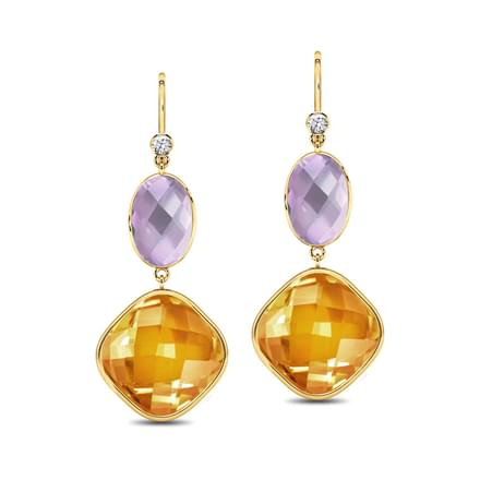 Serie Duo Drop Earrings