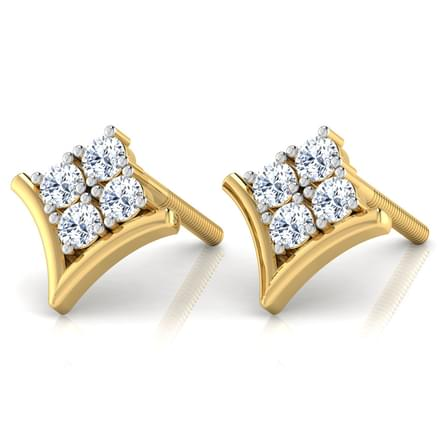 Cluster Diamond Earrings