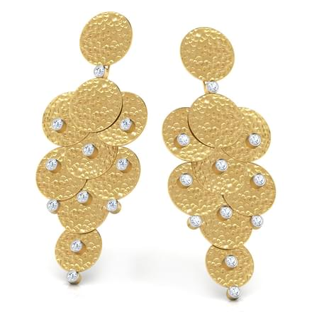 Dazzle Disc Earrings