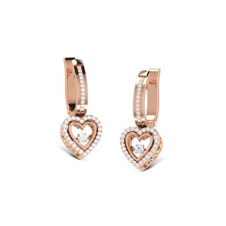Gillian Heartbeat Diamond Drop Earrings