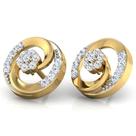 Open Disc Stud Earrings