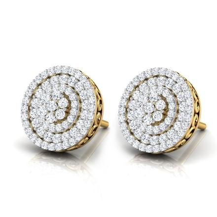Rosa Halo Stud Earrings