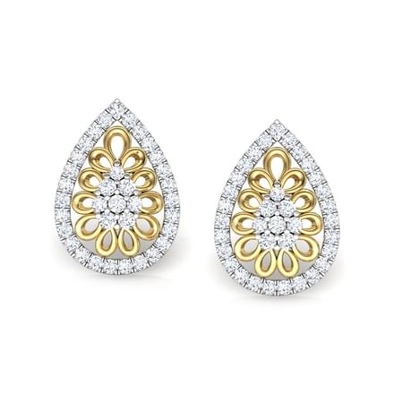 Pear Filigree Studs