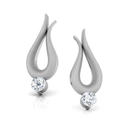 cz stud zirconia platinum earrings plated studs zoom cubic large product round