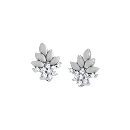Bouquet Platinum Stud Earrings