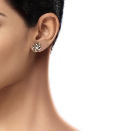 a0ecafd00 Floral Wave Stud Earrings Jewellery India Online - CaratLane.com