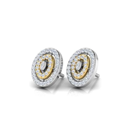 Two Tone Oval Stud Earrings